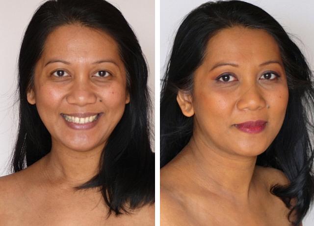 Maquiller une peau métissée - Avant _ Après